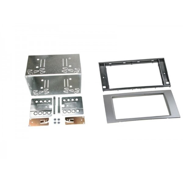 Kit double din Ford Fiesta, Focus, Fusion, Galaxy, Kuga, S-Max et Transit (argent)