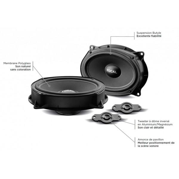 FOCAL IS RNI 690 Kit haut-parleurs 2 voies séparé 164 x 235 mm spécifique Nissan et Isuzu Dmax.