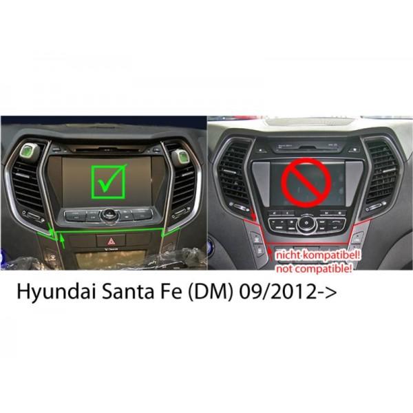Kit double din Hyundai Santa Fe (DM)