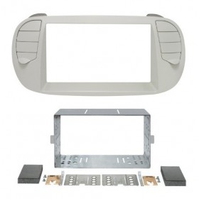 Kit double din Fiat 500 couleir ivoire