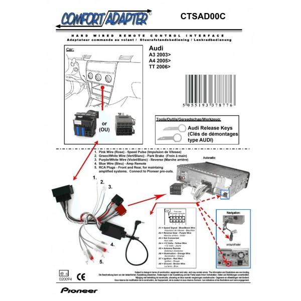 PIONEER CTSAD00C Interface Commande au Volant AUDI à partir de 2006
