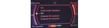 Interface multimédia Audi